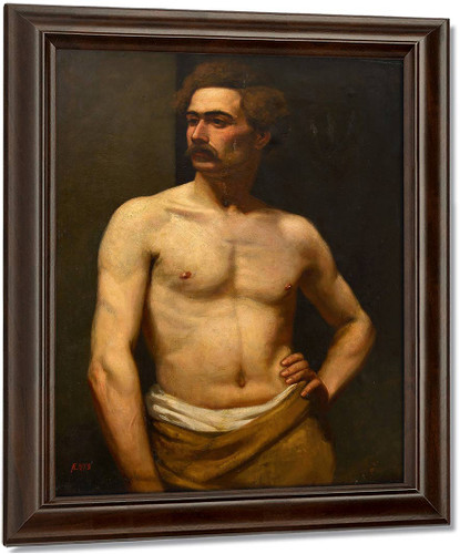 Male Model By Albert Edelfelt