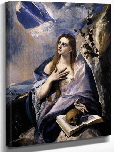 Mary Magdalen In Penitence1 By El Greco By El Greco