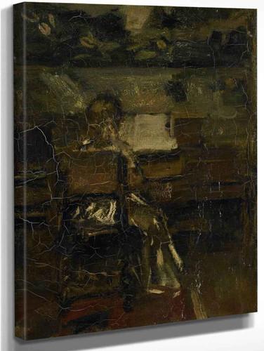 Meisje Aan De Piano By Jacob Henricus Maris