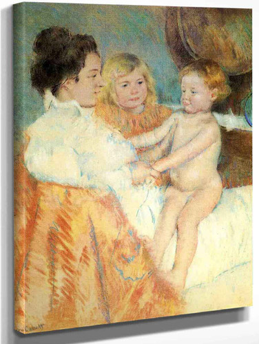 Mother, Sara And The Baby 1 By Mary Cassatt