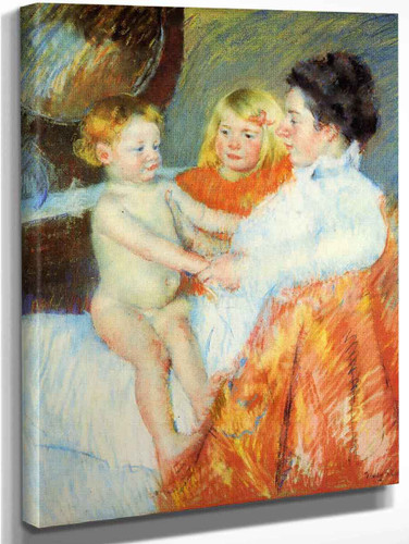 Mother, Sara And The Baby1 By Mary Cassatt