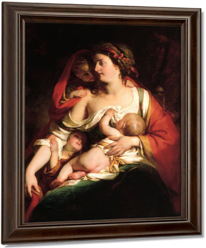Mother And Children By Friedrich Von Amerling