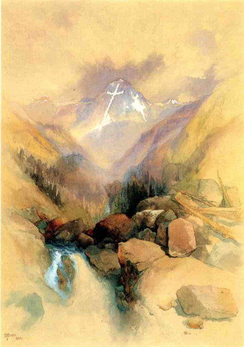 Mountain Of The Holy Cross1 By Thomas Moran