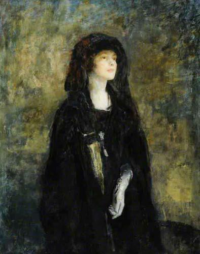 Mrs Claude Johnson In Black By Ambrose Mcevoy