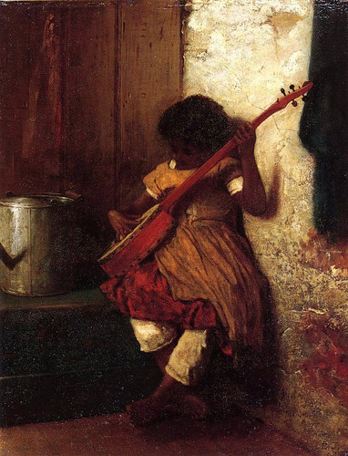 Musical Instinct By Eastman Johnson  By Eastman Johnson