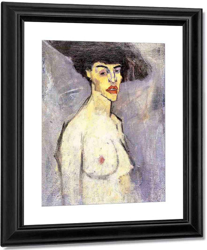 Nude With Hat By Amedeo Modigliani