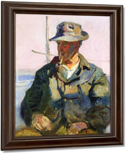 Old Salt By George Benjamin Luks Oil on Canvas Reproduction