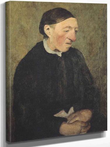 Old Woman With Handkerchief By Paula Modersohn Becker