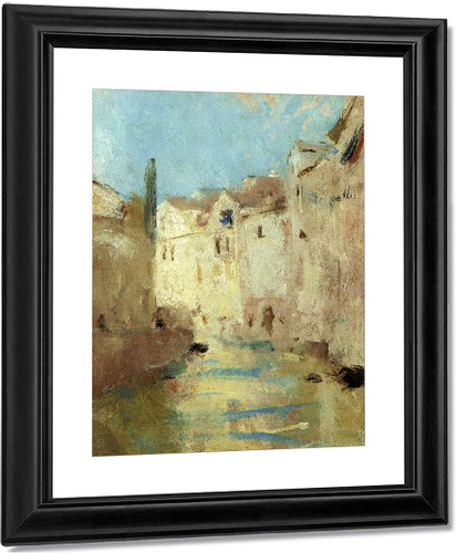 On The Canal By Charles W. Hawthorne