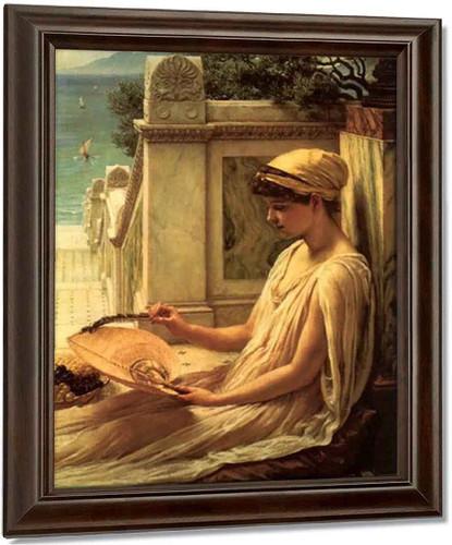 On The Terrace By Sir Edward John Poynter Oil on Canvas Reproduction
