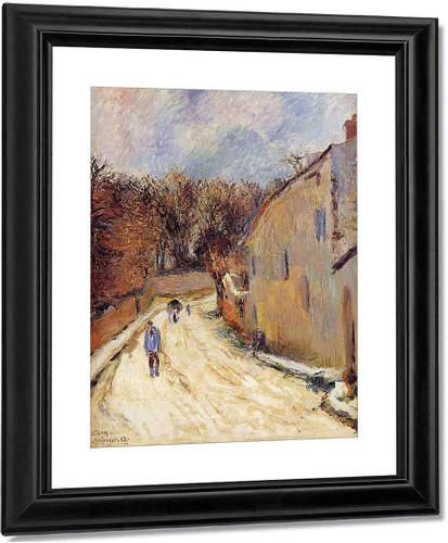 Osny, Rue De Pontoise, Winter By Paul Gauguin