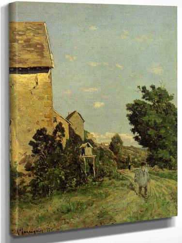 Path Through A Normandy Village By Henri Joseph Harpignies, Aka Henri Harpignies