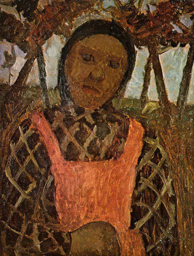 Peasant Girl With Pink Skirt By Paula Modersohn Becker