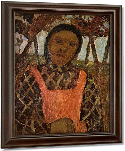 Peasant Girl With Pink Skirt By Paula Modersohn Becker Oil on Canvas Reproduction