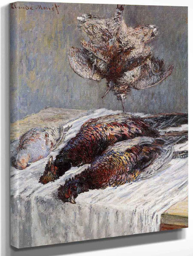Pheasants, Woodcocks And Partridges By Claude Oscar Monet