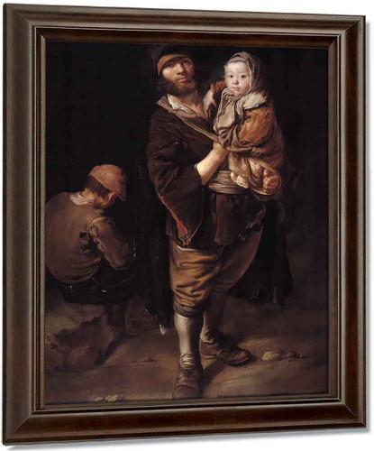 Pitocco Con Bambina In Braccio By Giacomo Ceruti