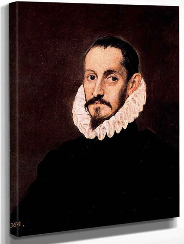 Portrait Of A Gentleman By El Greco By El Greco