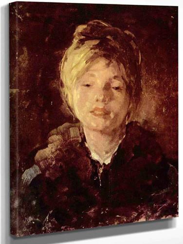 Portrait Of A Girl1 By Nicolae Grigorescu