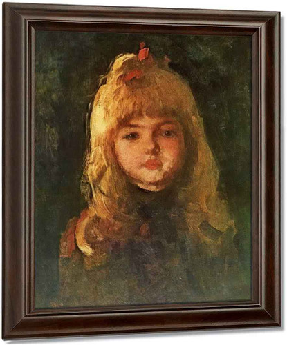 Portrait Of A Girl3 By Nicolae Grigorescu