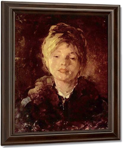 Portrait Of A Girl5 By Nicolae Grigorescu