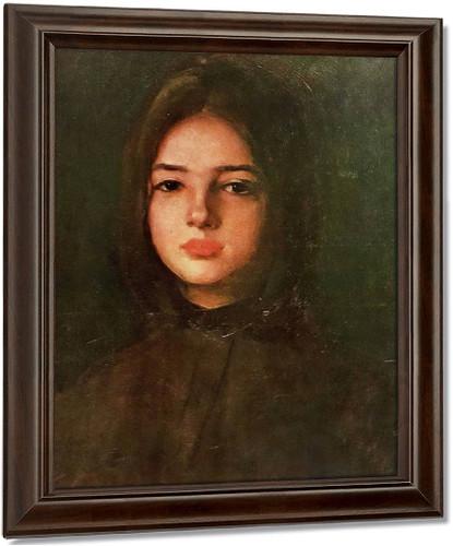 Portrait Of A Girl By Nicolae Grigorescu