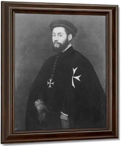 Portrait Of A Knight Of Malta By Jacopo Tintoretto
