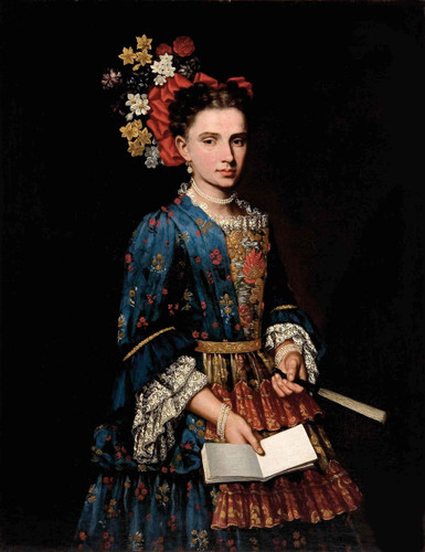 Portrait Of A Lady By Giacomo Ceruti