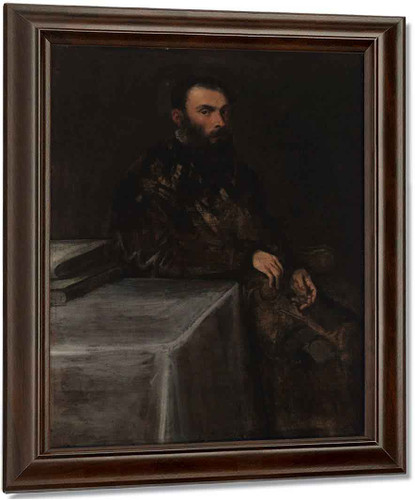 Portrait Of A Man 1 By Jacopo Tintoretto