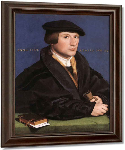 Portrait Of A Member Of The Wedigh Family 1 By Hans Holbein The Younger