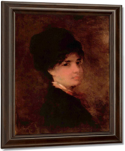 Portrait Of A Woman1 By Nicolae Grigorescu