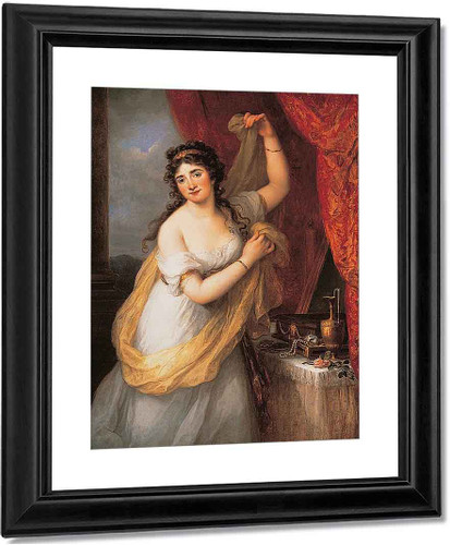 Portrait Of A Woman By Angelica Kauffmann By Angelica Kauffmann