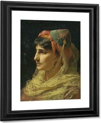 Portrait Of A Woman By Frederick Arthur Bridgman