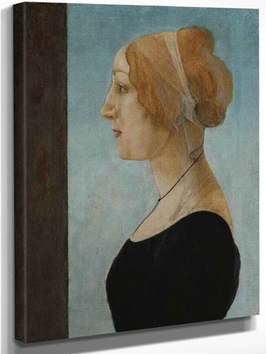 Portrait Of A Woman By Sandro Botticelli