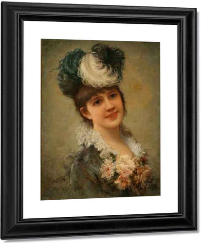Portrait Of A Young Girl By Emile Eisman Semenowsky