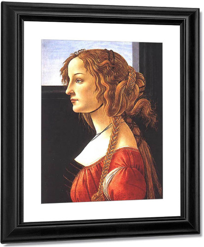 Portrait Of A Young Woman2 By Sandro Botticelli