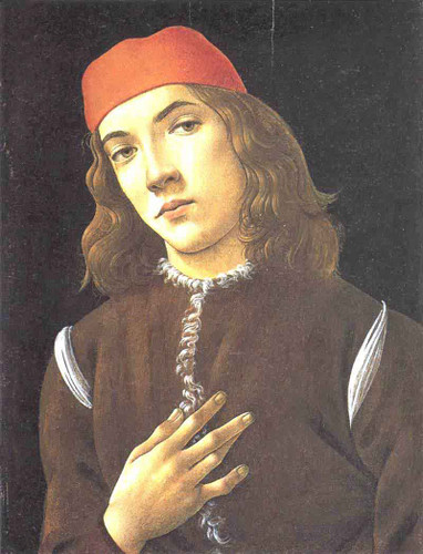 Portrait Of A Youth By Sandro Botticelli