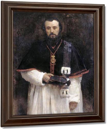 Portrait Of Abbot Lavigerie By Leon Joseph Florentin Bonnat Oil on Canvas Reproduction