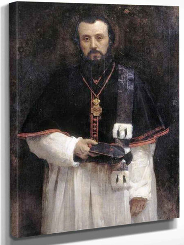 Portrait Of Abbot Lavigerie By Leon Joseph Florentin Bonnat