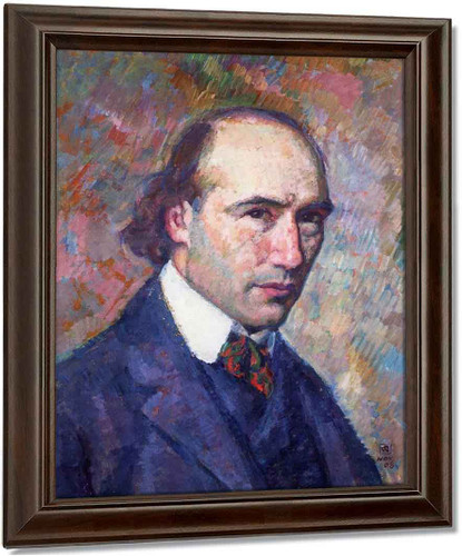 Portrait Of Andre Gide By Theo Van Rysselberghe Oil on Canvas Reproduction