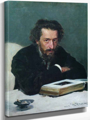 Portrait Of Composer And Journalist Pavel Ivanovich Blaramberg. By Ilia Efimovich Repin