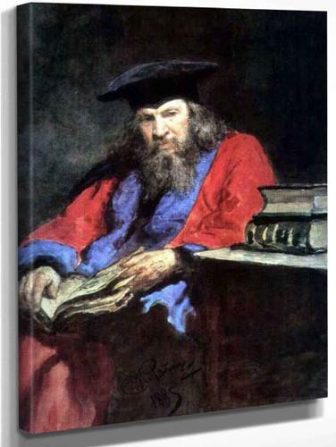 Portrait Of Dmitry Mendeleev. By Ilia Efimovich Repin