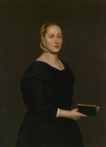Portrait Of Donna Alba Regina Del Ferro By Giacomo Ceruti