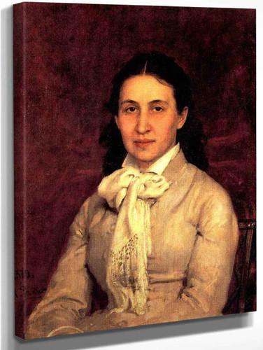 Portrait Of E. Mamontova. By Ilia Efimovich Repin