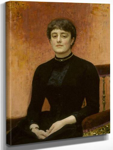 Portrait Of Jelizaveta Zvantseva By Ilia Efimovich Repin