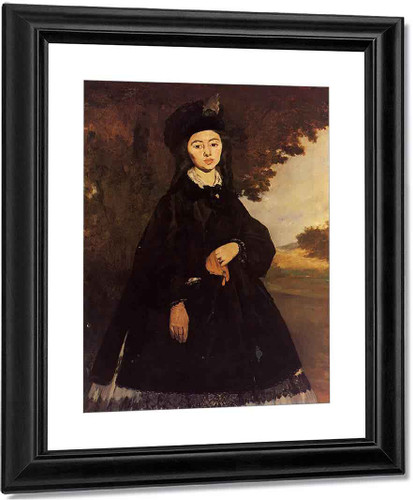 Portrait Of Madame Brunet By Edouard Manet By Edouard Manet