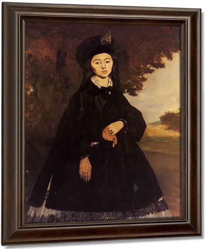 Portrait Of Madame Brunet By Edouard Manet