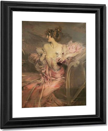 Portrait Of Madame De Florian By Giovanni Boldini