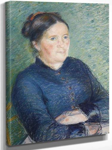 Portrait Of Madame Pissarro By Camille Pissarro