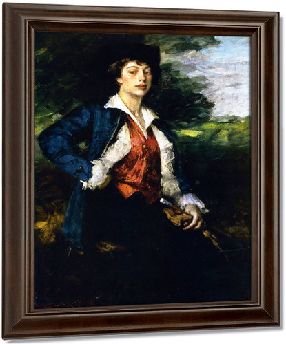 Portrait Of Miss L.  By William Merritt Chase