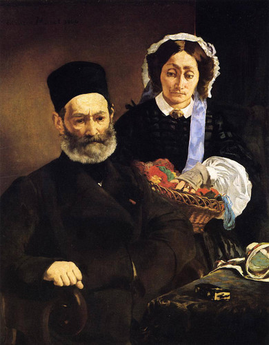 Portrait Of Monsieur And Madame Manet By Edouard Manet By Edouard Manet